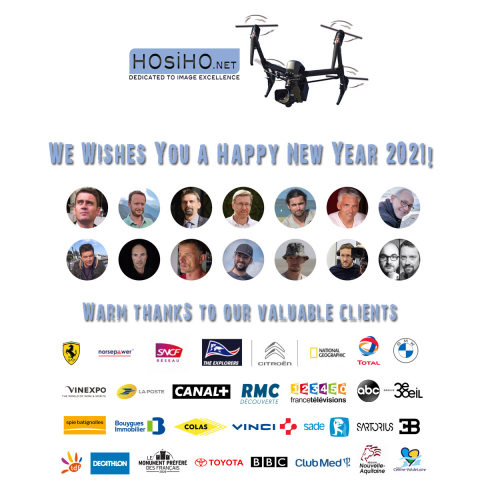 Best Wishes for 2021 from HOsiHO Drone Network Uav Pilots