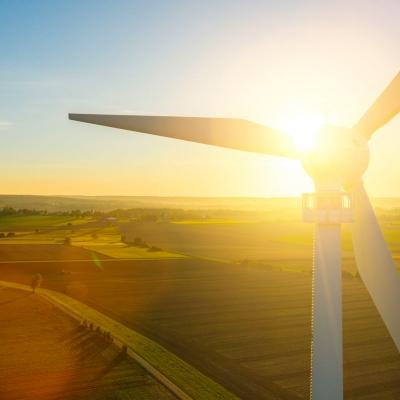 Wind Turbines in the rising sun
