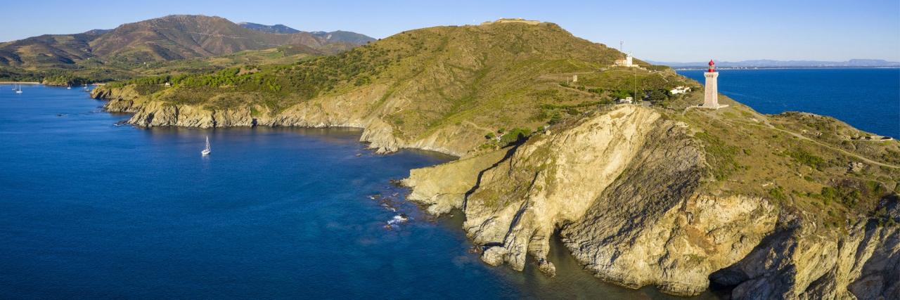 Le Cap Béar vu par drone © Aero7