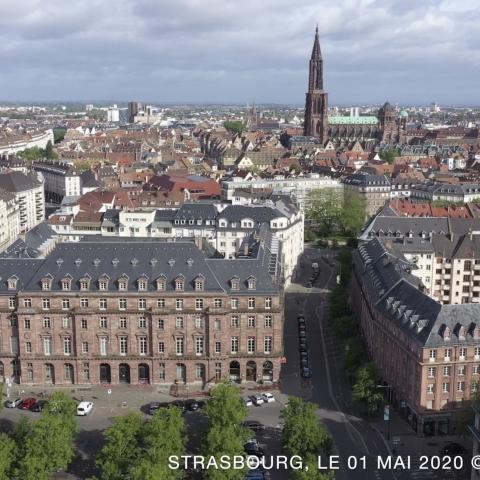 1er Mai 2020 : Onze villes en France, filmées conjointement par 11 pilotes de drone professionnel