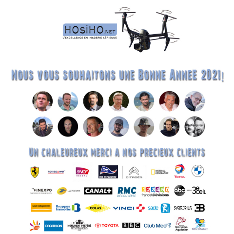 Meilleurs Voeux 2021 de la part des télépilotes HOsiHO Drone Network