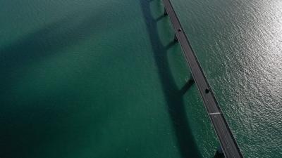Photographie par drone du Pont de l'île d'Oléron