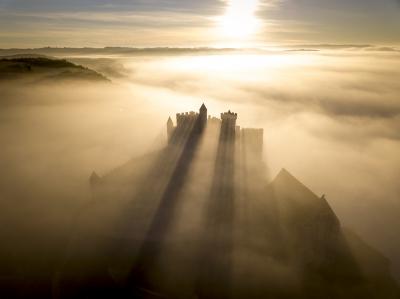 Photographie par drone du Chateau de Beynac, Dordogne, 24