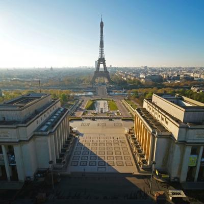 Paris filmé par notre Inspire 2 X7 lors du confinement lié à la pandémie de COVID-19