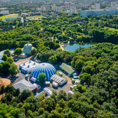 Photo par drone - Parc des Chanteraines à Villeneuve-la-Garenne - département des Hauts-de-Seine en région parisienne
